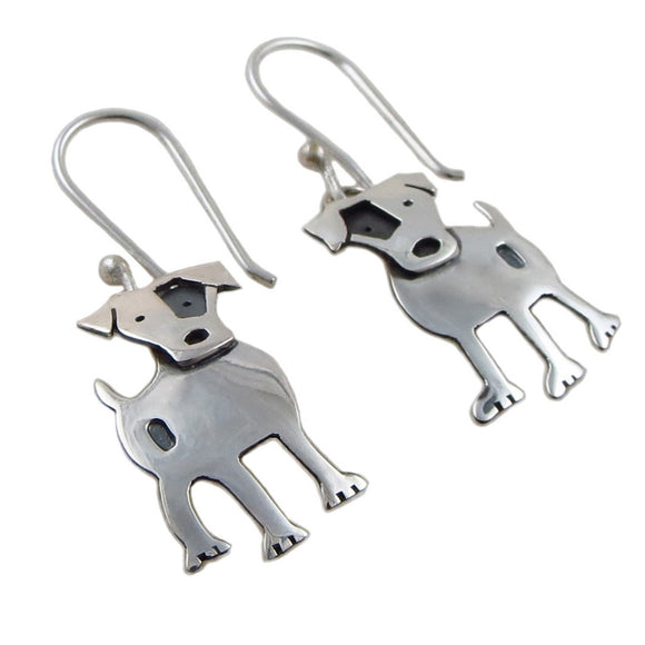 Jack Russell Terrier 925 Silver Dog Earrings Gift Boxed