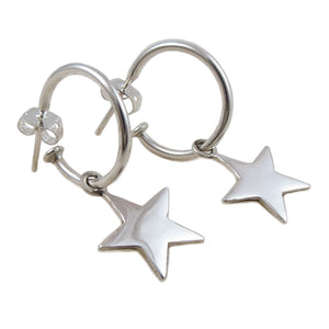 Celestial Star 3 Way Hoop 925 Silver Circle Earrings