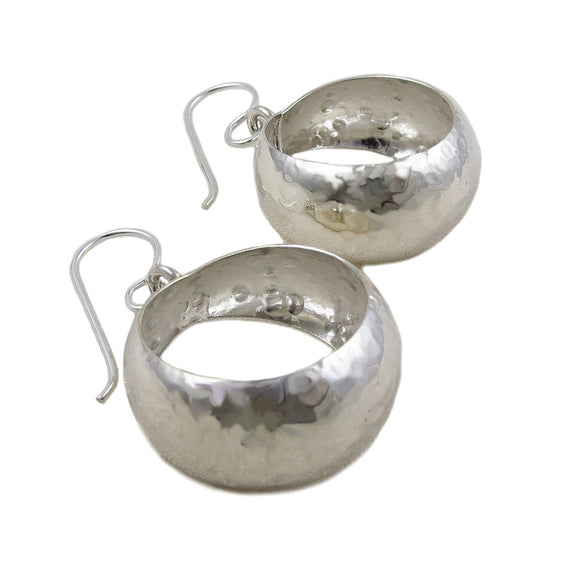 Textured Hoops 925 Silver Circle Earrings Gift Boxed