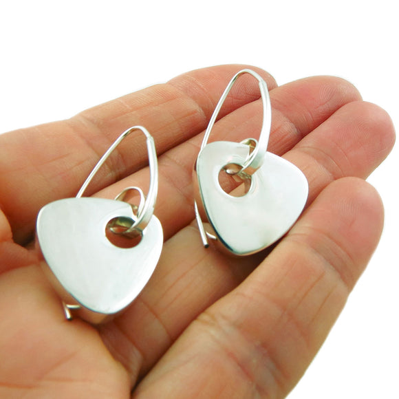 Threader 925 Sterling Silver Triangle Drop Earrings Gift Boxed