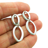 Double Drop 925 Sterling Taxco Silver Earrings