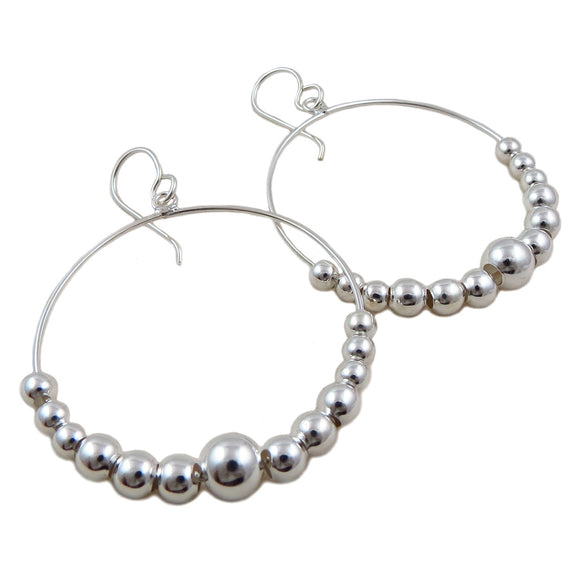 Large 925 Sterling Silver Hoop Earrings Gift Boxed
