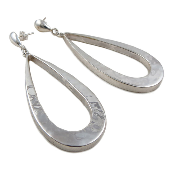 Long Drop 925 Sterling Silver Earrings