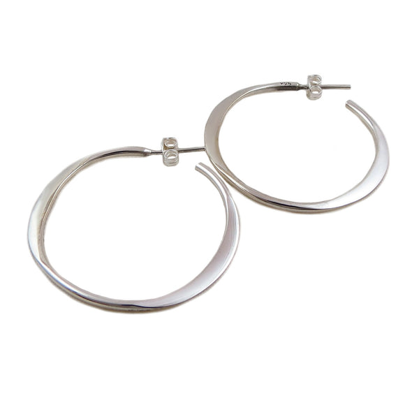 Hoops 925 Sterling Silver Polished Circle Hoop Earrings in a Gift Box