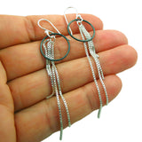 Chain 925 Sterling Silver Designer Drop Earrings