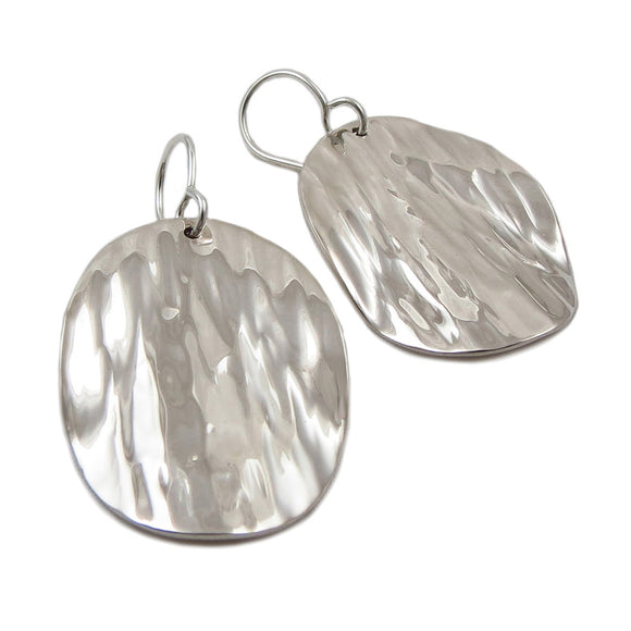 Textured Drop 925 Sterling Silver Earrings in a Gift Box