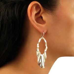 Long Solid 925 Sterling Silver Drop Earrings in a Gift Box