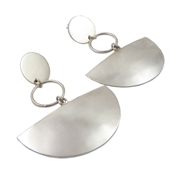 Long Polished 925 Sterling Silver Drop Earrings in a Gift Box