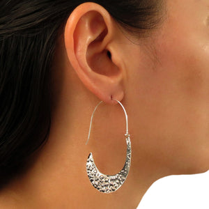 Long Threader 925 Sterling Taxco Silver Earrings
