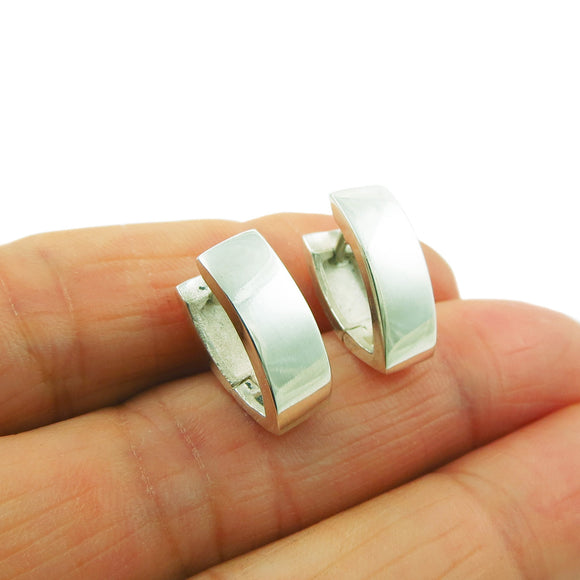 Huggie Earrings 925 Sterling Silver Hinged Drops in a Gift Box