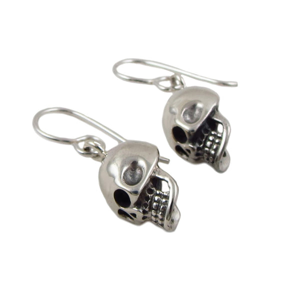 Skull 925 Sterling Silver Drop Earrings