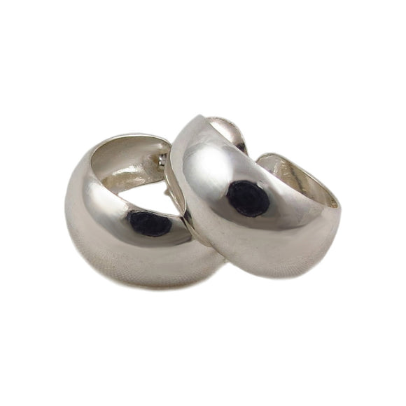 Polished Hoops 925 Sterling Silver Circle Earrings in a Gift Box