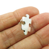 Jigsaw Puzzle Piece 925 Sterling Silver Earrings