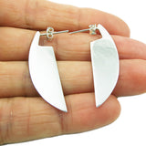 Long Solid 925 Sterling Silver Drop Earrings