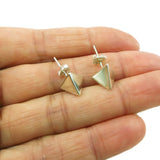 Triangle Stud 925 Solid Sterling Silver Earrings Gift Boxed