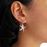 Nautical Starfish 925 Sterling Silver Drop Earrings Gift Boxed