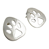 Animal Paw Print 925 Sterling Silver Earrings Gift Boxed
