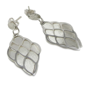 Stylish 925 Sterling Silver Double Drop Earrings Gift Boxed