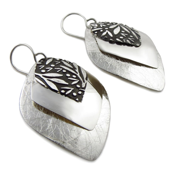Triple Drop 925 Sterling Silver Earrings Gift Boxed