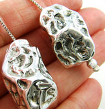 Meteorite Rock 925 Sterling Silver Designer Drop Earrings