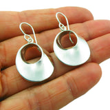 925 Sterling Silver Twisted Mobius Circle Earrings