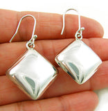 Sterling 925 Silver Square Drop Earrings