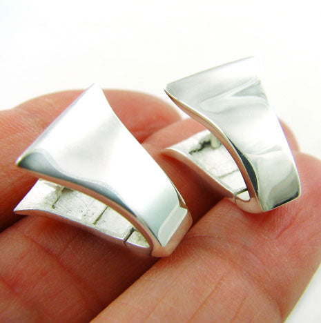 Sterling 925 Silver Huggie Design Earrings Gift