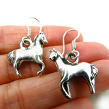 Solid Sterling 925 Silver Equestrian Horse Shaped Drop Earrings