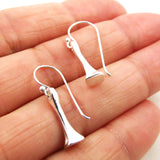 Solid Sterling 925 Silver Equestrian Horse Shoe Farriers Nail Drop Earrings
