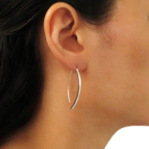 925 Silver Threader Pull Through Stick Drop Earrings