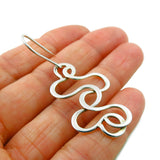 925 Sterling Silver Long Spiral Drop Earrings Gift Boxed