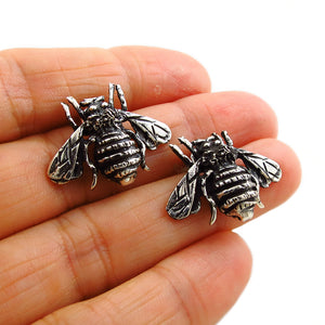 Bee Insect 925 Sterling Silver Bumblebee Earrings Gift Boxed