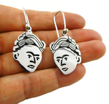 Frida Kahlo 925 Sterling Silver Maria Belen Drop Earrings Gift Boxed