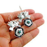 Lovebirds 925 Sterling Taxco Silver Maria Belen Bird Earrings