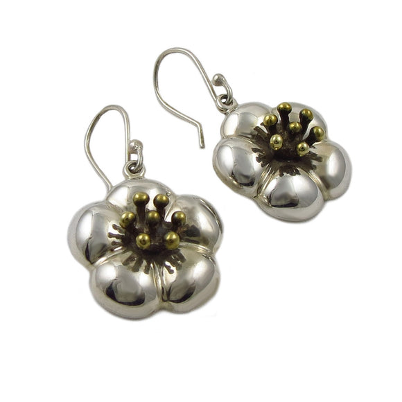 Flower 925 Sterling Silver Earrings
