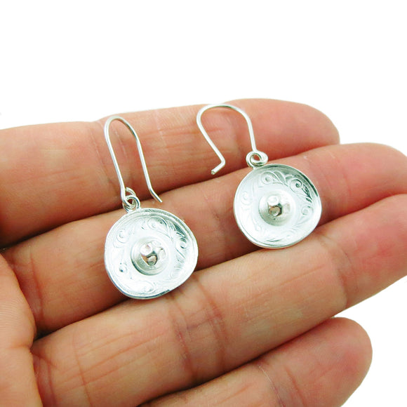 Mexican Sombrero Hat 925 Sterling Silver Drop Earrings