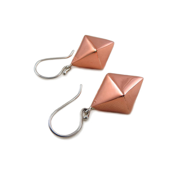 Guillermo Arregui Copper and 925 Silver Designer Drop Earrings