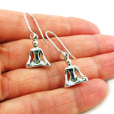 925 Sterling Silver Yoga Buddist Padmasana Lotus Position Earrings in a Gift Box