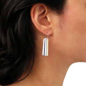 Polished Drop 925 Sterling Silver Earrings in a Gift Box