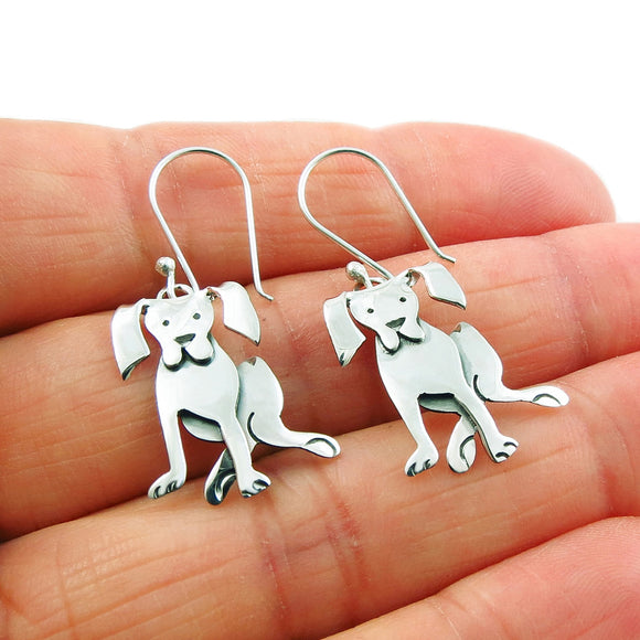 Labrador Retriever 925 Sterling Silver Dog Earrings