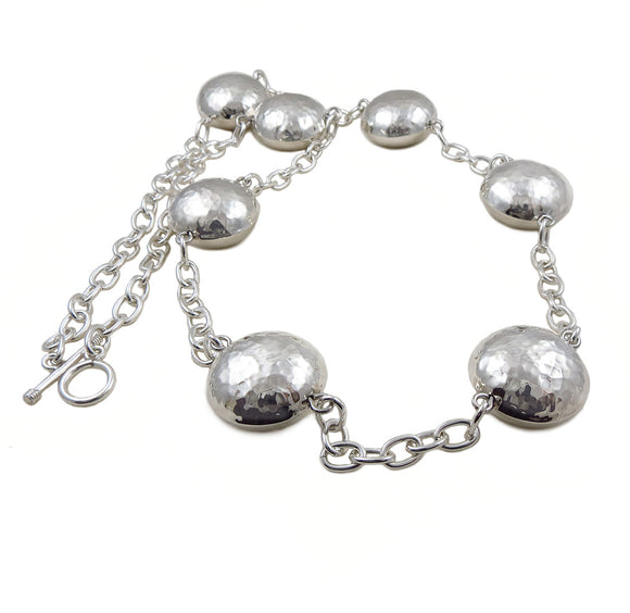 Large Ball Beads and Chain Hallmarked 925 Sterling Silver Necklace 97gms
