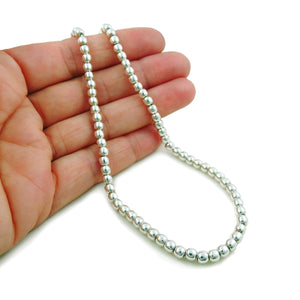 Ball Bead 925 Sterling Silver Necklace