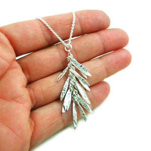 "18"" 925 Sterling Silver Multi Drop Chain Necklace in a Gift Box"