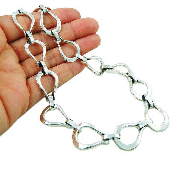 Horsebit Snaffle 925 Sterling Silver Horse Tack Necklace Gift Boxed
