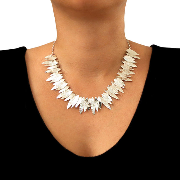 Wide 925 Sterling Silver Designer Cluster Drop Necklace Gift Boxed
