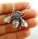 Solid 925 Taxco Silver Bee Brooch and Pendant