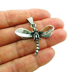 925 Sterling Silver Dragonfly Pendant in a Gift Box
