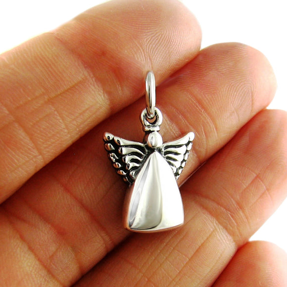 Guardian Angel 925 Sterling Silver Spiritual Design Pendant