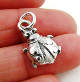 Pretty Solid 925 Silver Ladybird Pendant