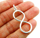 Infinity 925 Sterling Silver Figure of Eight  Pendant